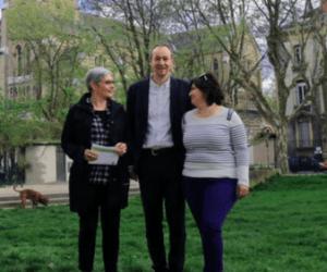 Pascal Clouaire, Sonia Yassia et Joëlle Boeningen posant pour le DL