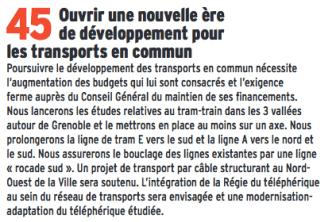 L'engagement 45 de la municipalité Piolle de prolonger le Tram jusqu'à Bachelard ne sera pas plus tenu que les 119 autres