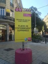 E.Piolle continue Destot (PS): suppression des places ( Gambetta)