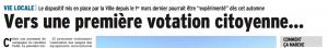 Le titre du DL du 8 août: P.Clouaire voudrait faire croire que les grenoblois vont pouvoir décider de quelques chose !
