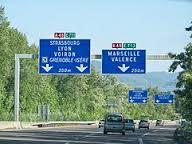 le déblocage de l'autoroute Grenoble/Valence
