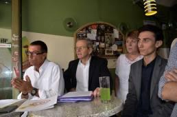 Pendant l'intervention de Christian Bec, avec Alain Carignon, Brigitte Boer, Sébastien Tomasella
