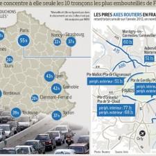 Grenoble seule agglomération de France ou le temps perdu dans les bouchons augmente