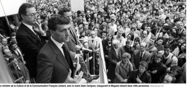 2000 Grenoblois à l'inauguration avec François Léotard, Jacques Guillot et Alain Carignon