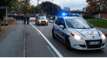 140 policiers venus les protéger! ( photos le Dauphiné Libéré)