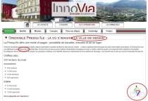 P Kermen (Verts/Ades) sur le site d'Innovia : à vélo dans l'écocité de la ville de demain