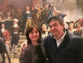 Jean-Luc Mélenchon et Eilsa Martin