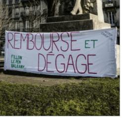 Fillon, Le Pen, Balkany, l'amalgame et le jugement afin de faire peser le soupçon principalement à droite( place Victor Hugo)