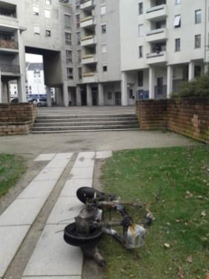 Scooter brûlé