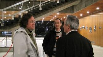 Jérôme Soldeville (Verts/PG) un élu d'extrême gauche virulent ici avec Alain Denoyelle ( Verts/PG)