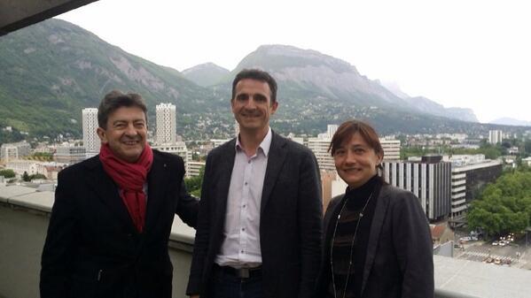 Le temps des amours heureuses au sommet de l'hôtel de ville entre JL Mélenchon, Eric Piolle et Elisa Martin est bien loin