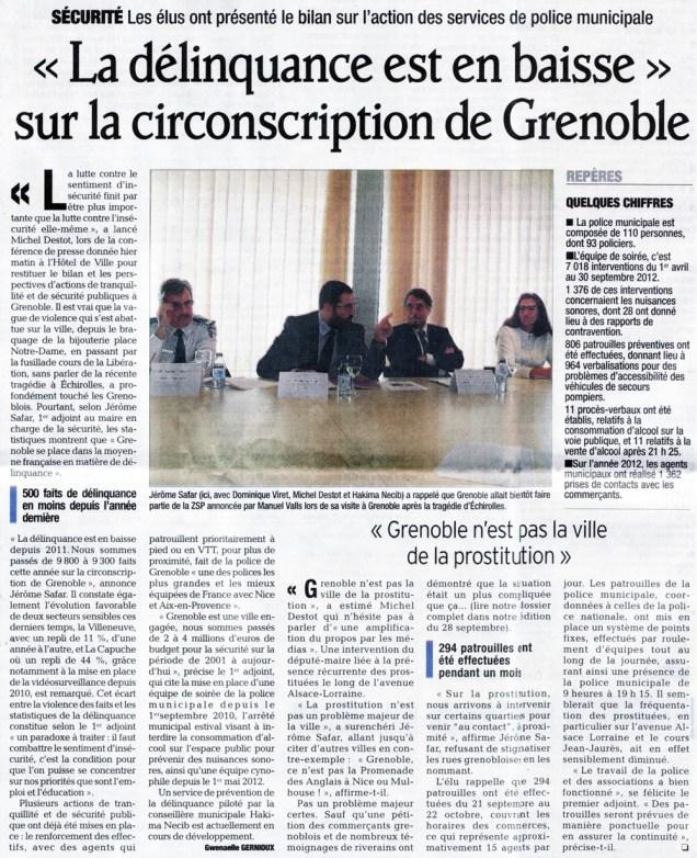 Jusqu'en 2012 M.Destot et J.Safar (PS) ont tenté de tromper les Grenoblois