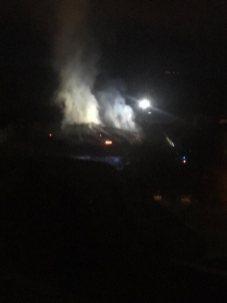 le collège de Villeneuve en feu