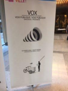 Vox, voie publique /Voix publique