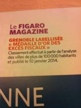 """"""" Médaille D'or des excés fiscaux"""" pour le Figaro Magazine"""
