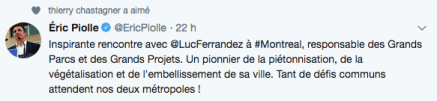 reçu par des maires d'arrondissements
