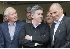Yanis Varoufakis ( à droite) ici avec JL Mélenchon. Il trouve le gouvernement grec d'extrême gauche trop à droite. il a toute sa place à Grenoble