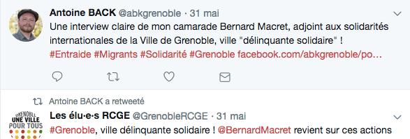 """B.Macret, A.Back et la majorité municipale s'auto-congratulent autour de leur nouvel étendard: """" Grenoble ville délinquante """" !"""