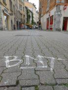BNT sur le sol : de l'art