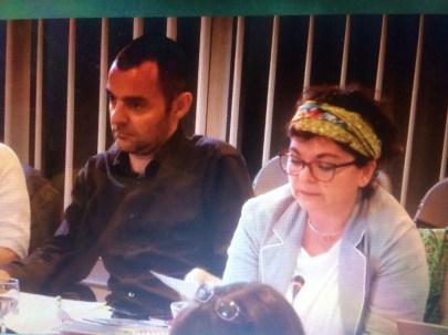 Olivier Bertrand et Corinne Bernard élus Verts/Ades ont remplacé les artistes pour décider de la programmation des théâtres!