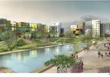 De Bonne : la com' présentait l'éco quartier avec un grand parc... Résultat 3, 50 M2 d'espaces verts par habitant