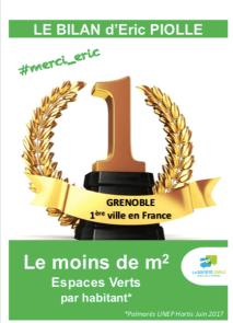 Avec le bétonnage intensif Grenoble est la dernière ville pour le nombre de M2 par habitant
