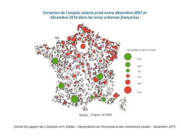 Grenoble perdait déjà des emplois sous les municipalités Destot contraireement aux autres métropoles ( source le Monde)
