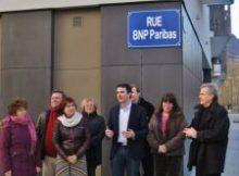 Eric Piolle le pourfendeur des banques inaugurant une rue BNP pour protester contre leur emprise ...