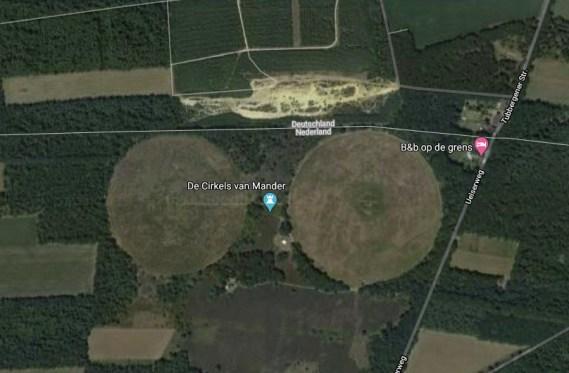 De Mandercirkels op Google Earth