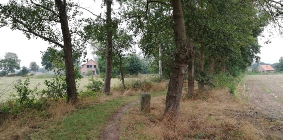 Grenspad vlakbij de voormalige Kreuzkapelle