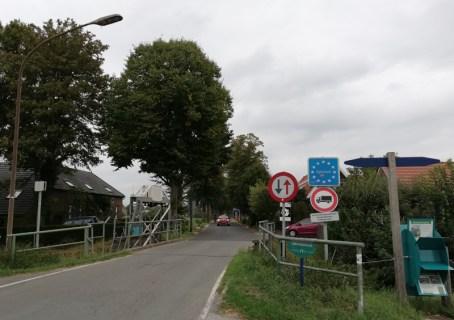 De grensovergang bij Netterden