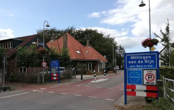 De grensovergang in Millingen aan de Rijn