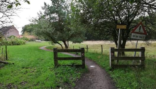 Grensovergang bij Op den Hering