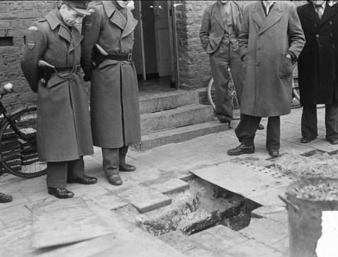 Bij de ontdekking van de smokkeltunnel in de Nieuwstraat