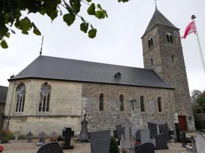 De Sint-Pancratiuskerk in Mesch