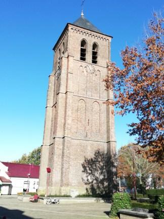 De losse toren in het centrum van Luyksgestel