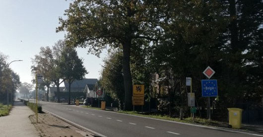 De grens zuidelijk van Baarle