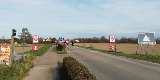 De allerlaatste grensovergang, vlakbij Retranchement