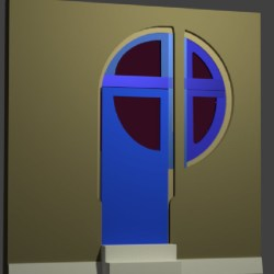 Progress on #Blender door as at 5 Nov 2017