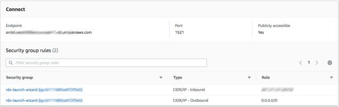 Database details