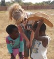Libby during Salvation Army mission trip to Malawi