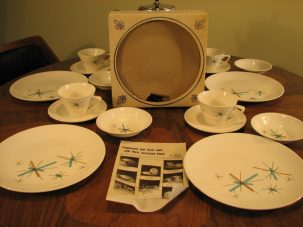 50's-60's plate set 16 pc (8)