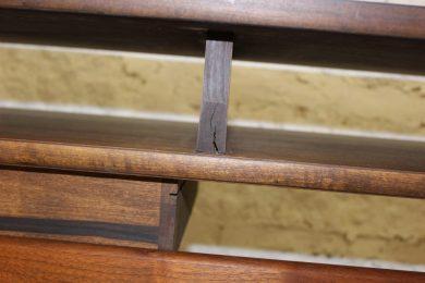 small crack mid century modern floating desk
