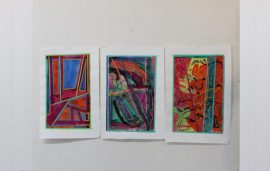 Set of 3 paintings by Paul Crimi