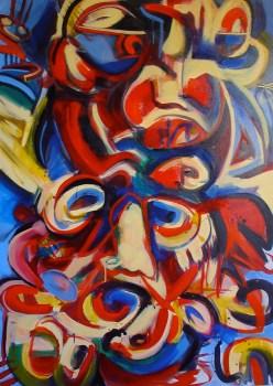 Carnevale, 2005, acrylic and oil on canvas. AVAILABLE