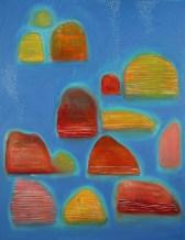 Islands I, 2016, acrylic and oil on canvas, 91x71cm NFS