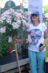Me and a standard 'Ballerina' Rose!