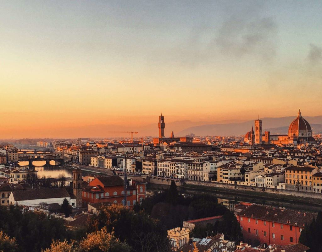 Sunset over Florence from Piazzale Michelangelo