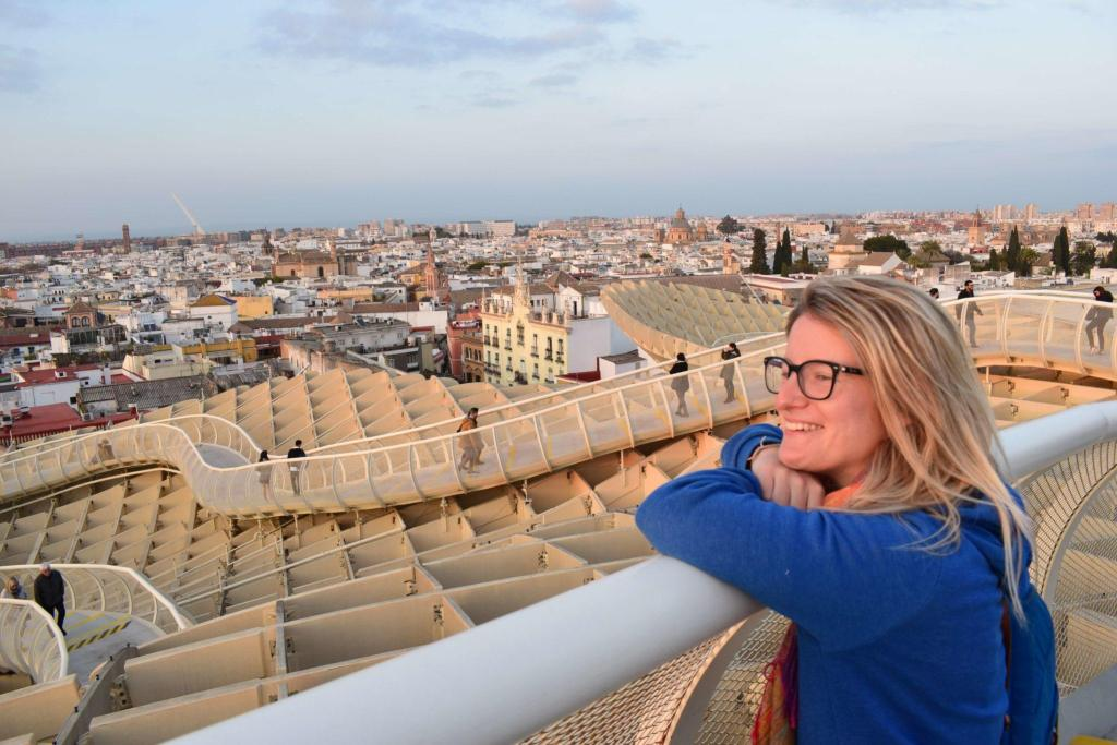Watching the sunset over Seville from the Metropol Parasol