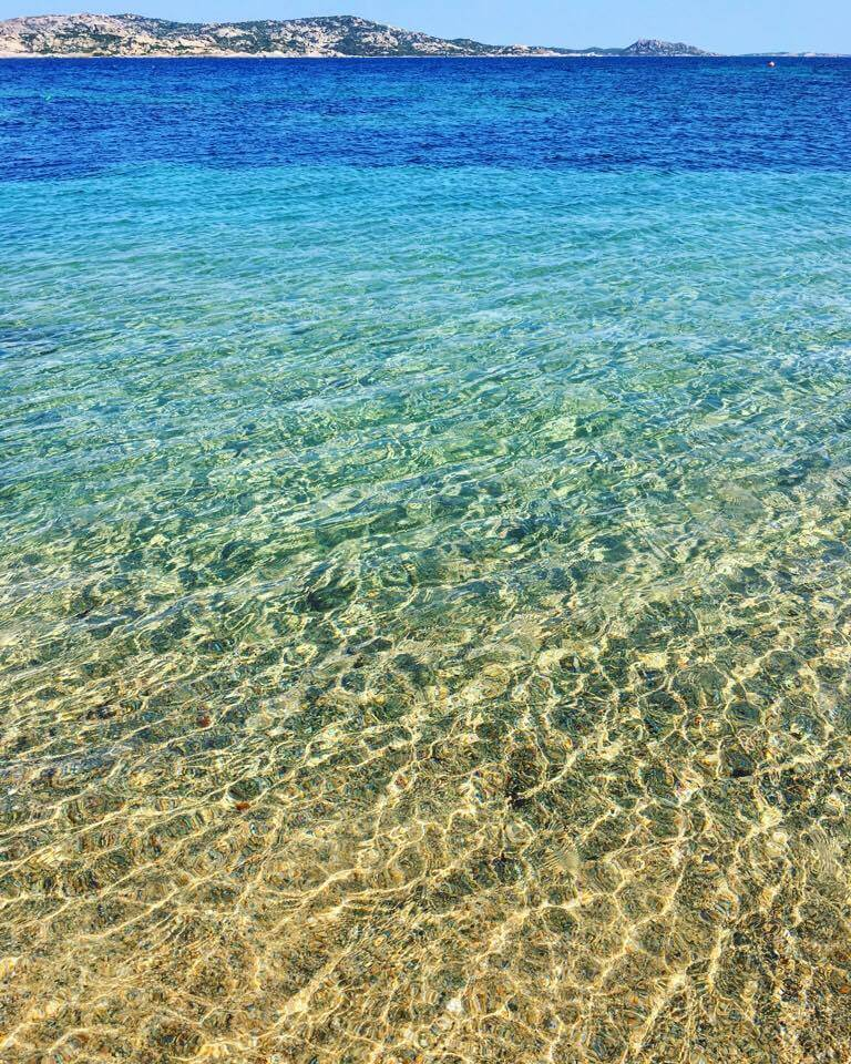 Crystal clear waters in Porto Faro